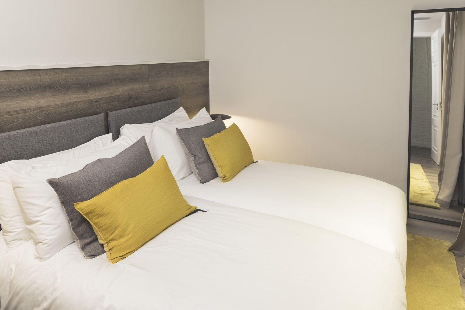 Dormitorio 4. Superficie 20 m2 - Camas individuales gemelas.